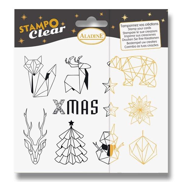 Školní a výtvarné potřeby - Razítka gelová Stampo Clear - Origami 11 ks