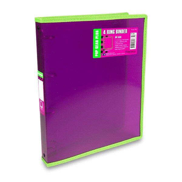Třídění a archivace - 4kroužkový pořadač FolderMate Pop Gear Plus červený