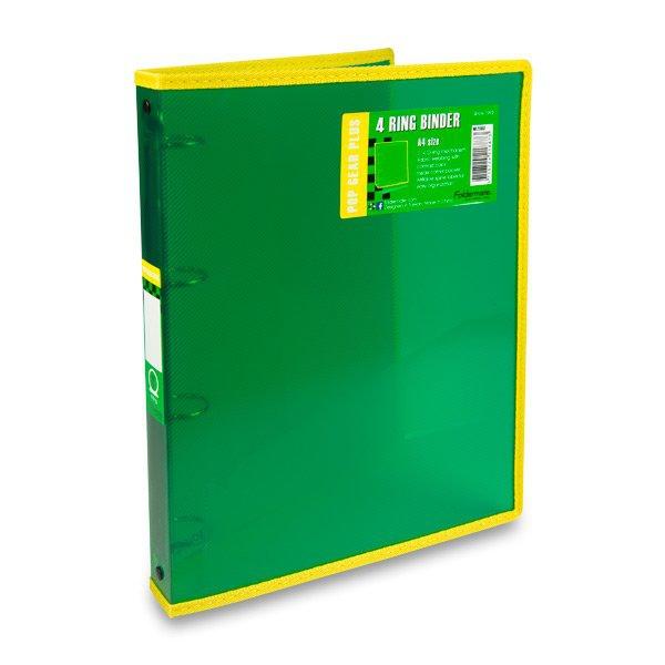 Třídění a archivace - 4kroužkový pořadač FolderMate Pop Gear Plus zelený