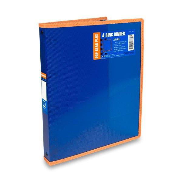 Třídění a archivace - 4kroužkový pořadač FolderMate Pop Gear Plus modrý