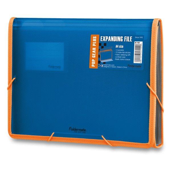 Třídění a archivace - Aktovka na dokumenty FolderMate Pop Gear Plus modrá