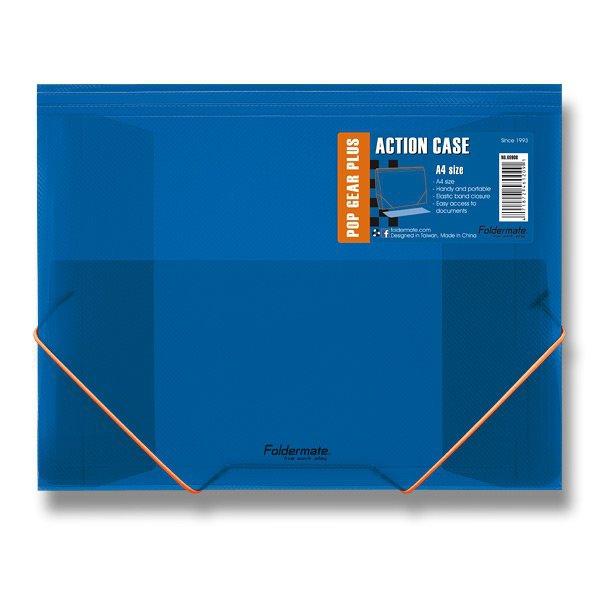 Třídění a archivace - Tříchlopňové desky s gumou FolderMate Pop Gear Plus modrá