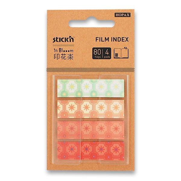 Papír tiskopisy - Samolepicí záložky Hopax Stick'n Pop-Up in Bloom 45 x 12 mm, 4 x 20 listů, kytky