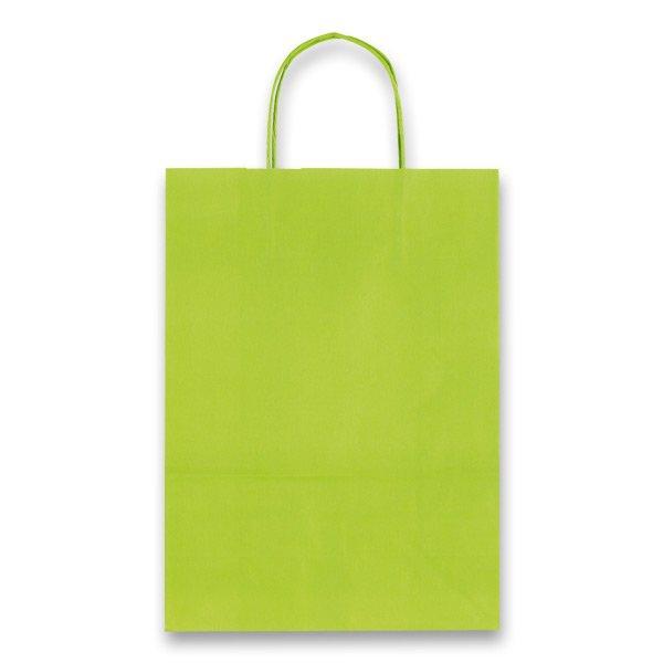 Obalový materiál drogerie - Dárková taška Allegra Light sv. zelená, M