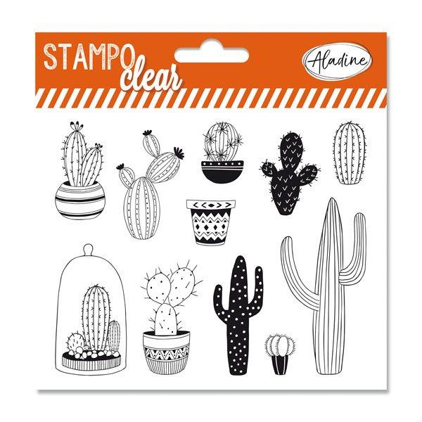 Školní a výtvarné potřeby - Razítka gelová Stampo Clear - Kaktusy