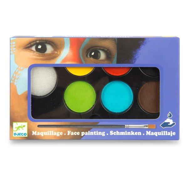 Školní a výtvarné potřeby - Barvy na obličej Djeco 6 barev