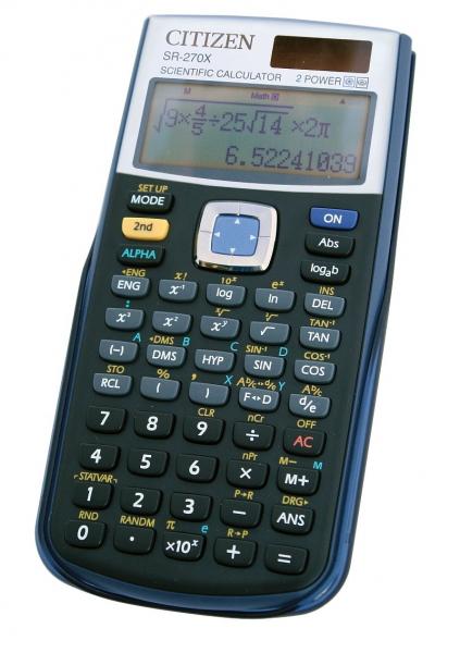 Kancelářské potřeby - Vědecký kalkulátor Citizen SR-270X