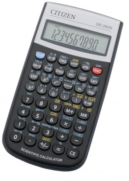 Kancelářské potřeby - Vědecký kalkulátor Citizen SR-260N