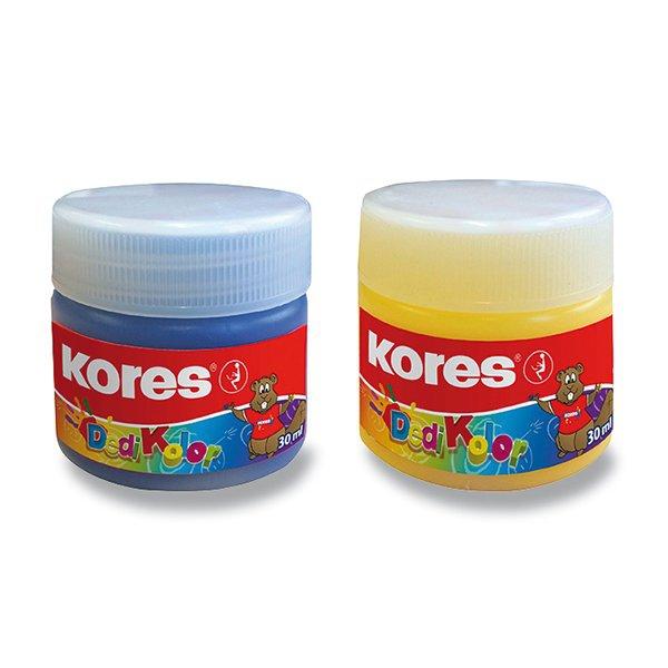 Školní a výtvarné potřeby - Prstové barvy Kores Dedi Kolor 7 barev, 30 ml