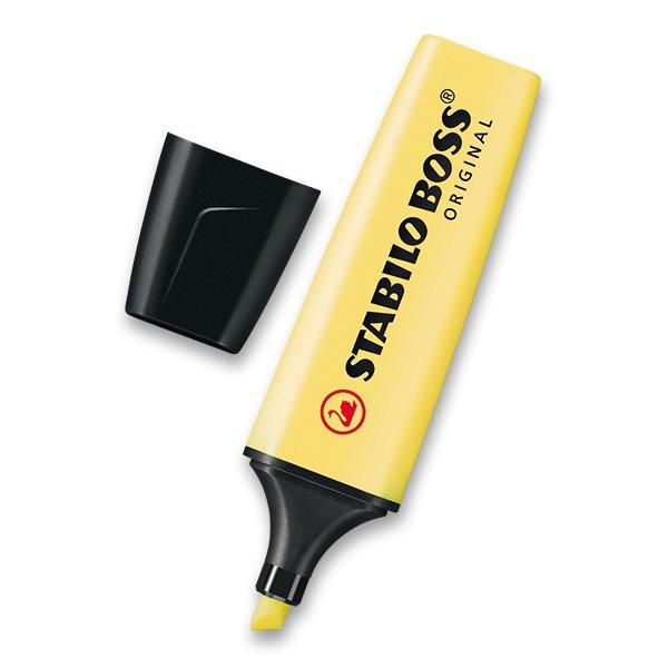 Psací potřeby - Zvýrazňovač Stabilo Boss Original Pastel žlutý