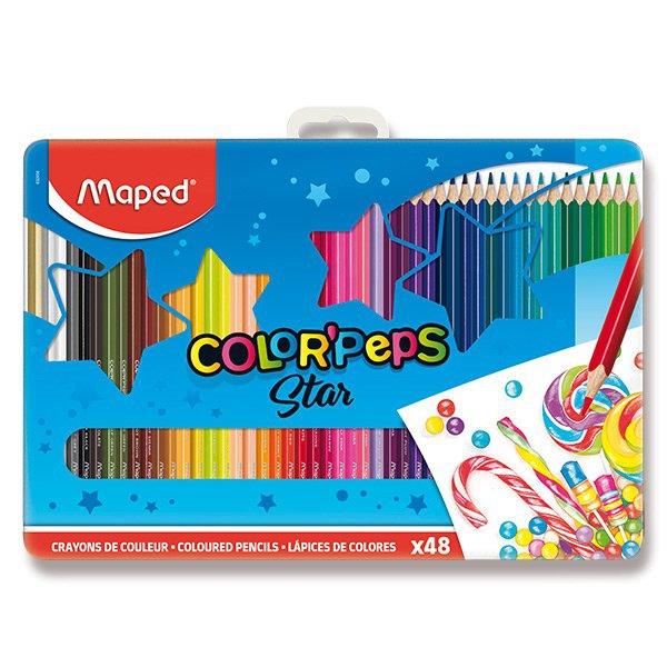 Psací potřeby - Pastelky Maped Color´Peps Metal Box 48 barev