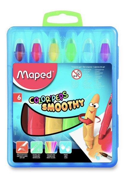 Psací potřeby - Gelové pastely Maped Color´Peps Smoothy 6 barev