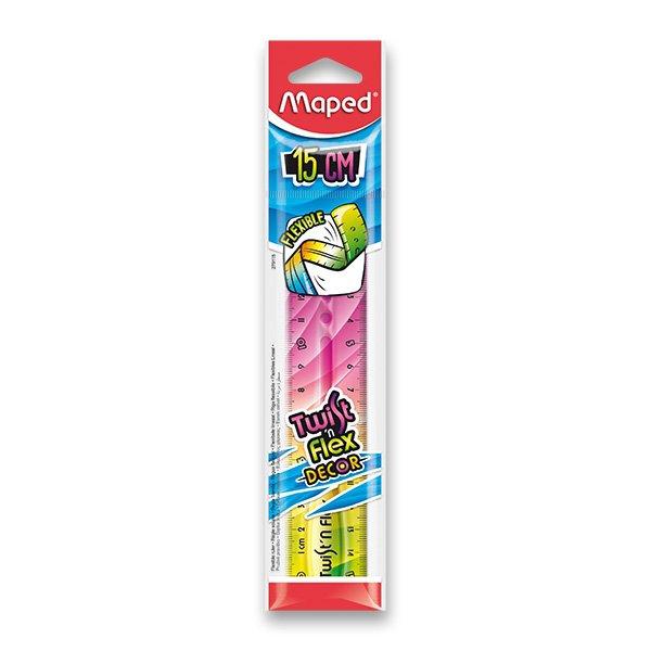 Školní a výtvarné potřeby - Pravítko Twint´n Flex duhové 15 cm, mix barev