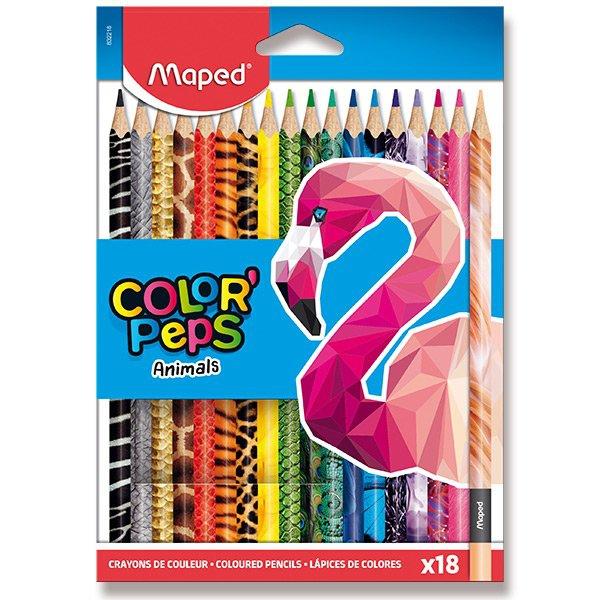 Psací potřeby - Pastelky Maped Color´Peps Animals 18 barev