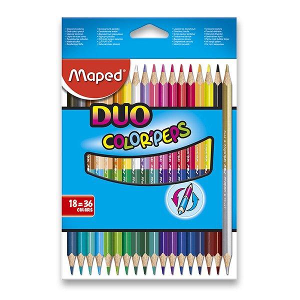 Psací potřeby - Pastelky Maped Color´Peps Duo oboustranné pastelky, 36 barev