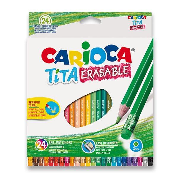Psací potřeby - Pastelky Carioca Tita Erasable 24 barev