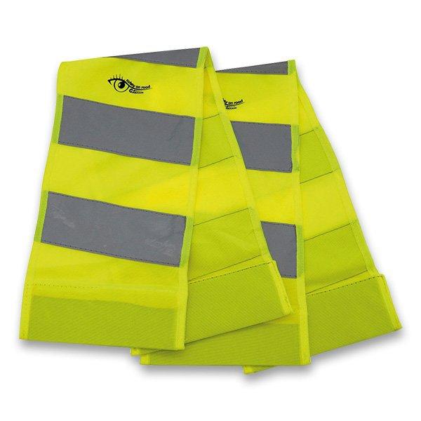 Školní a výtvarné potřeby - Reflexní pás s magnety žlutá, 2 ks