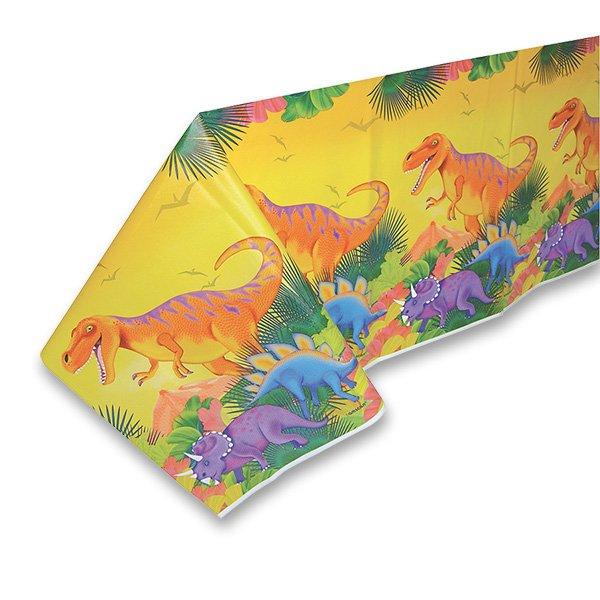 Školní a výtvarné potřeby - Plastový ubrus Dinosauři 120 x 180 cm