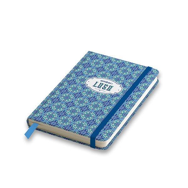 Papír tiskopisy - Záznamní kniha Ambar Lusa A6, linkovaná, 80 listů, mix motivů