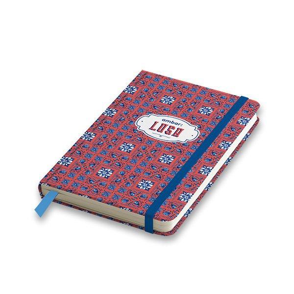 Papír tiskopisy - Záznamní kniha Ambar Lusa A5, linkovaná, 80 listů, mix motivů