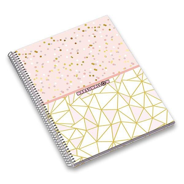 Papír tiskopisy - Kroužkový blok Ambar Marshmallow A4, linkovaný, 120 listů, mix motivů