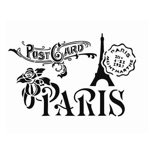 Školní a výtvarné potřeby - Plastová šablona Cadence Paříž