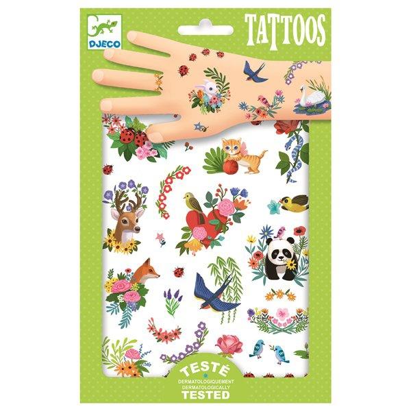 Školní a výtvarné potřeby - Tetování Djeco Šťastné jaro
