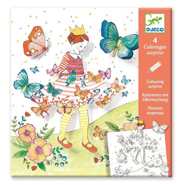 Školní a výtvarné potřeby - Omalovánky Djeco Pop-up Motýlí princezna