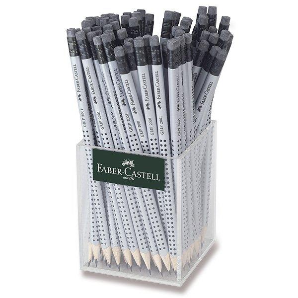 Psací potřeby - Grafitová tužka Faber-Castell Grip 2001 s pryží tvrdost HB, stojánek, 72 ks