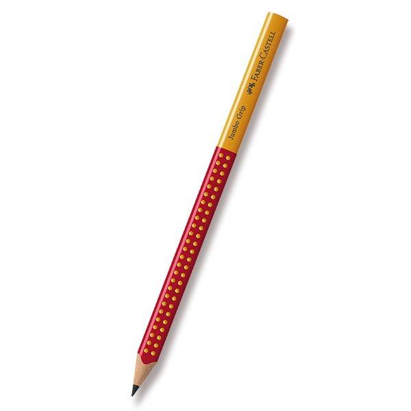 Psací potřeby - Grafitová tužka Faber-Castell Jumbo Grip Two Tone červená