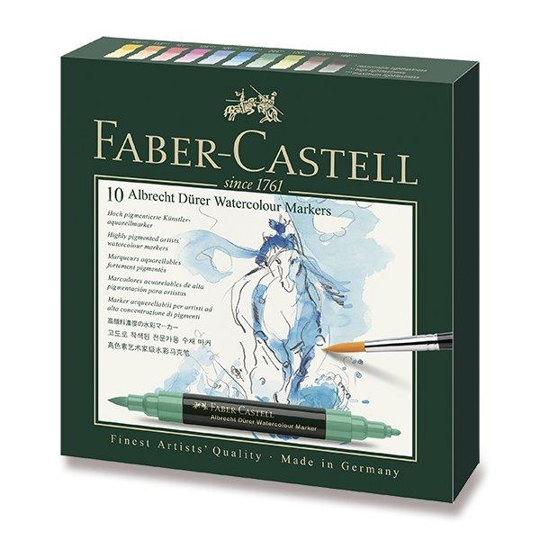 Psací potřeby - Akvarelové popisovače Faber-Castell Albrecht Dürer 10 barev