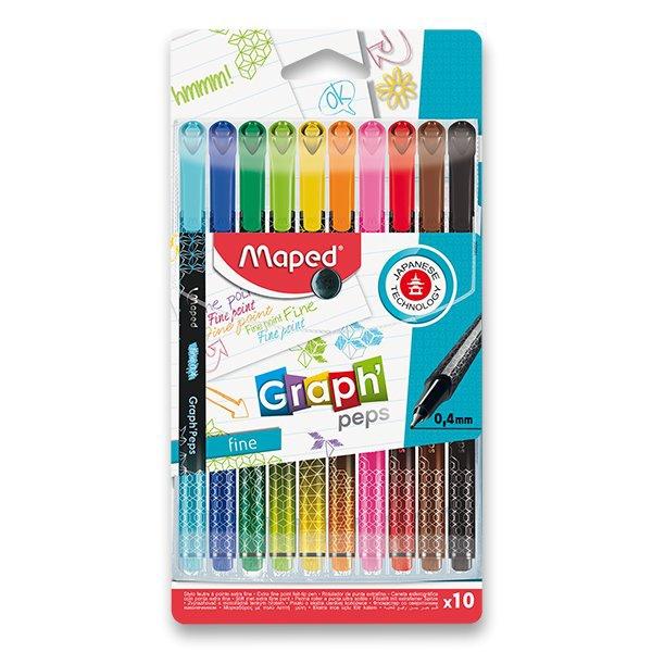 Psací potřeby - Liner Maped Graph´Peps Deco sada 10 barev