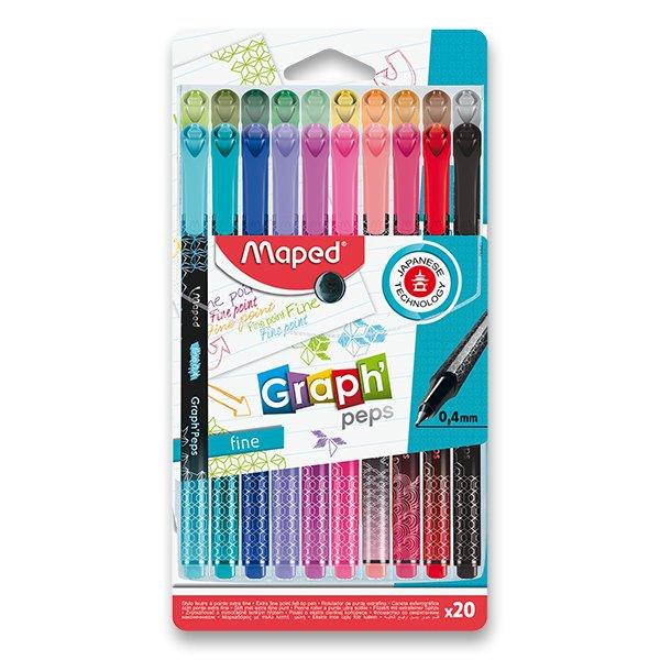 Psací potřeby - Liner Maped Graph´Peps Deco sada 20 barev