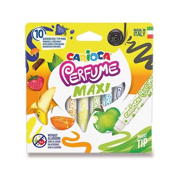 Psací potřeby - Dětské fixy Carioca Parfume Maxi sada 10 barev