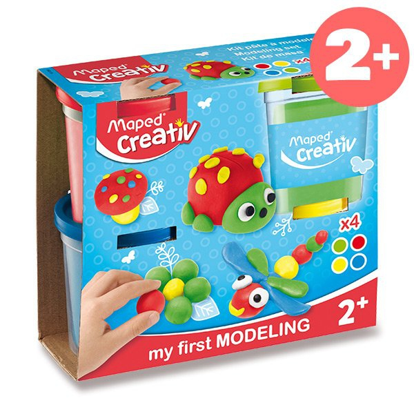 Školní a výtvarné potřeby - Modelovací hmota Maped Creativ 4 barvy, 120 g