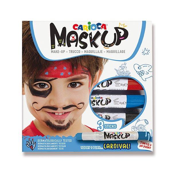 Školní a výtvarné potřeby - Obličejové barvy Carioca Mask Up Carnival 3 barvy