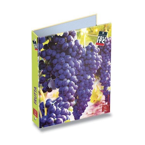 Třídění a archivace - 4kroužkový pořadač Pigna Fruits A4, mix motivů