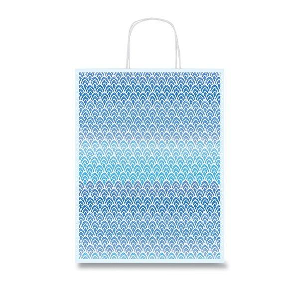 Obalový materiál drogerie - Dárková taška Fantasia Blue 360 x 120 x 460 mm