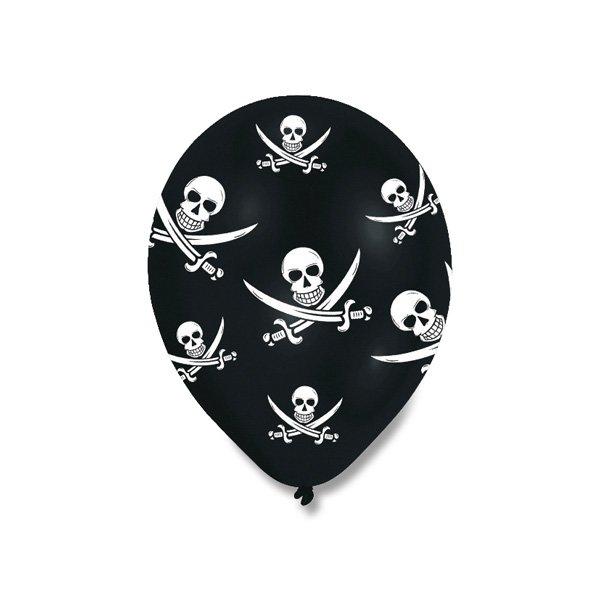 Školní a výtvarné potřeby - Nafukovací balónky Pirate Party 6 ks