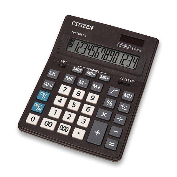 Kancelářské potřeby - Stolní kalkulátor Citizen CDB-1401