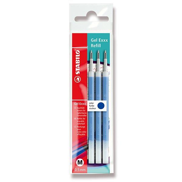 Psací potřeby - Náplň roller Stabilo Gel Exxx 3 ks, modrá
