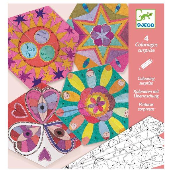 Školní a výtvarné potřeby - Origami skládačka Djeco Hvězdné mandaly