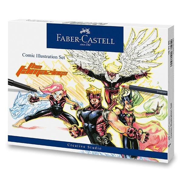 Psací potřeby - Popisovač Faber-Castell Comic Illustration sada, 15 ks