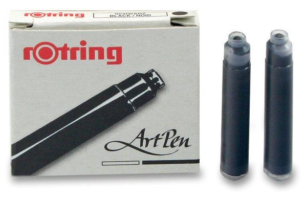 Psací potřeby - Inkoustové bombičky Rotring Art Pen černé, 6 ks