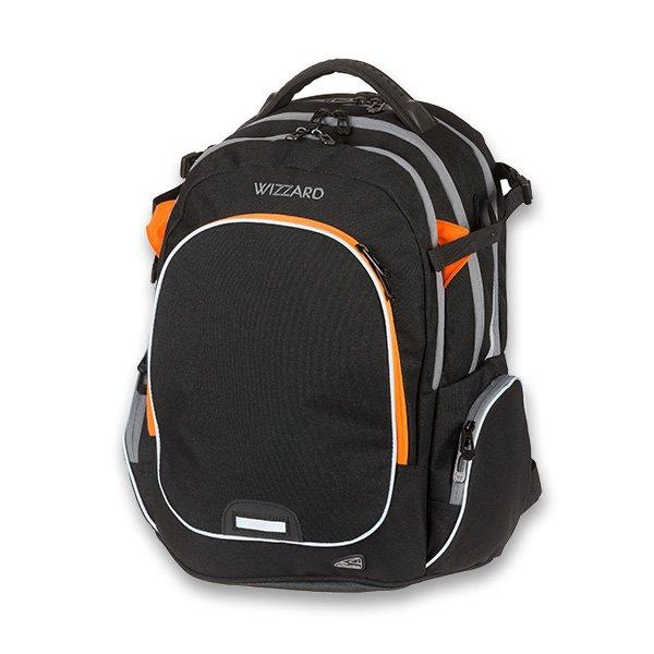 Školní a výtvarné potřeby - Školní batoh Walker Campus Wizzard Black Melange