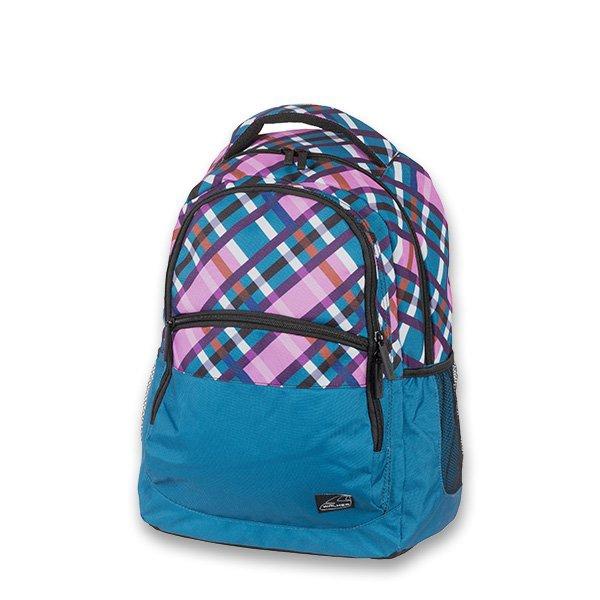 Školní a výtvarné potřeby - Školní batoh Walker Base Classic Petrol Checks