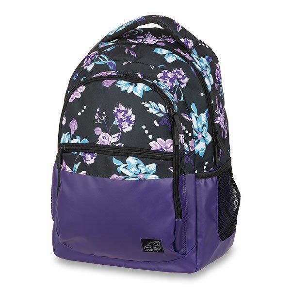 Školní a výtvarné potřeby - Školní batoh Walker Base Classic Flower Violet