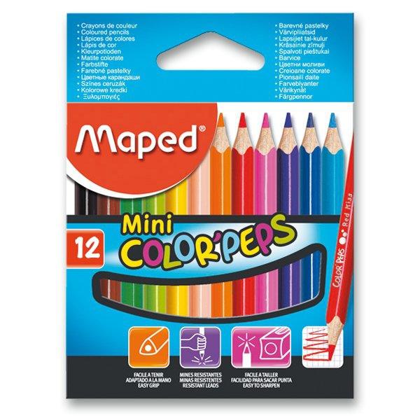 Psací potřeby - Pastelky Maped Color´Peps Mini 12 barev