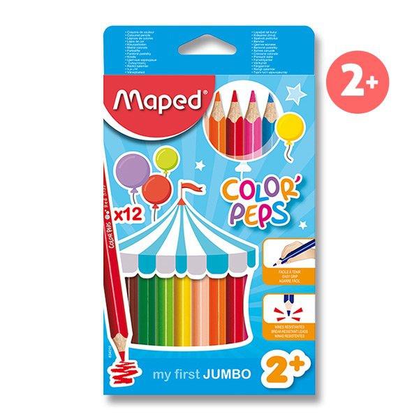Psací potřeby - Pastelky Maped Color´Peps Jumbo 12 barev, trojhranné