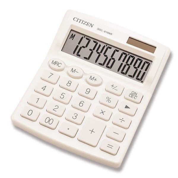 Kancelářské potřeby - Stolní kalkulátor Citizen SDC-810NR bílý